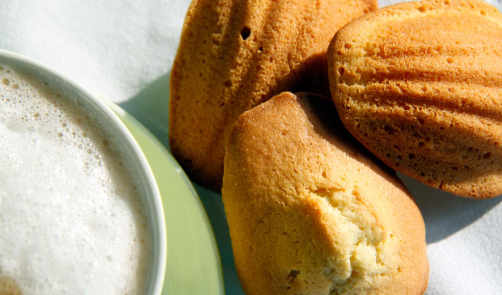 Kopje Koffie mit Madelaines