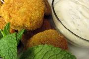 Casablanca-Menü Vorspeise: Kartoffel-Bällchen mit Joghurt-Minze-Dip