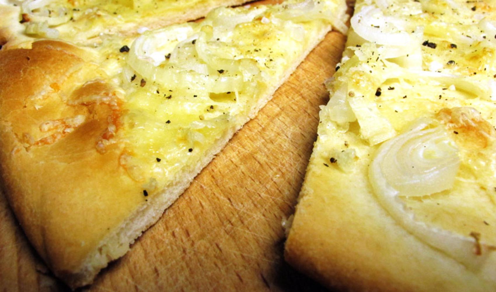 Nach dem Match, vor dem Match: Käse-Zwiebel-Kuchen