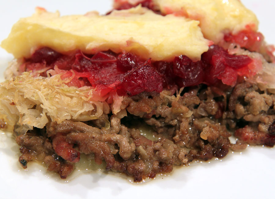 siepeltjespot mit Cranberries Zubereitung