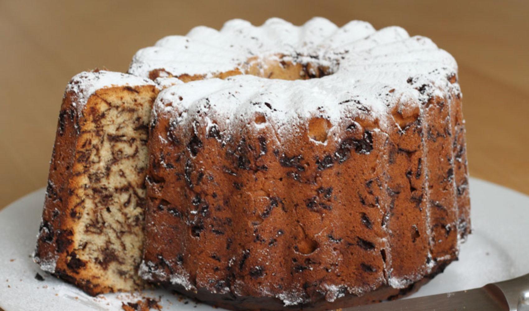Marmorkuchen mit Eindruck