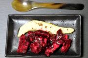 Indisch-deutsches Fusioncooking, Teil II: Rote Bete Salat mit Mandelmus und Birne