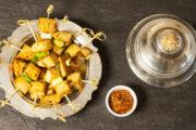 Gegen den Weihnachtszucker: Süßkartoffel Saté mit Frühlingszwiebel