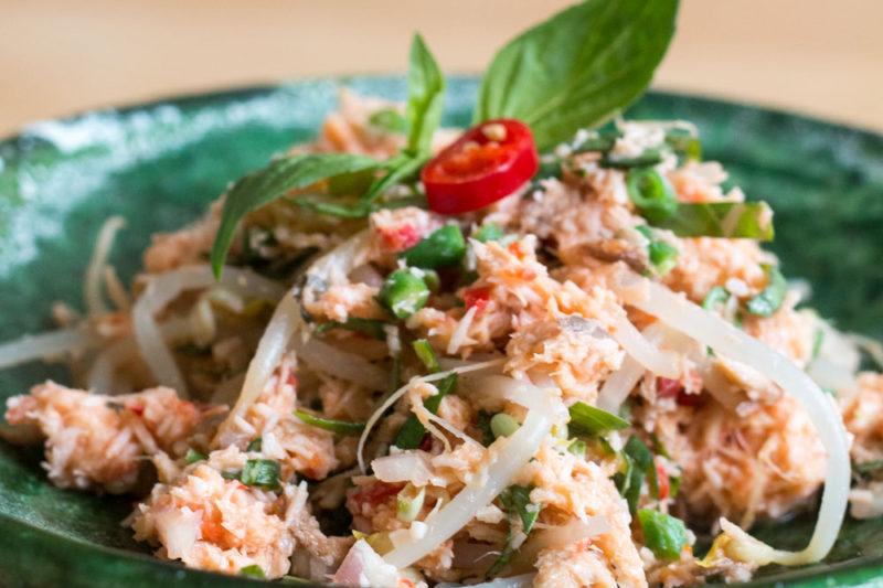 Jakarta Food Journal 7 - Rezepte: Kohu Kohu - scharfer Kokos-Räucherfisch-Salat