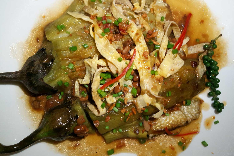Auberginengericht Kambodscha