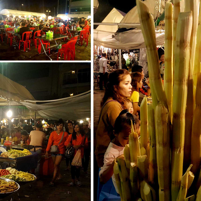 Nachtmarkt Kambodscha