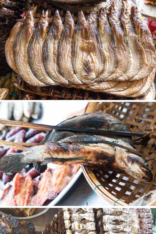 Räucherfisch Kambodscha