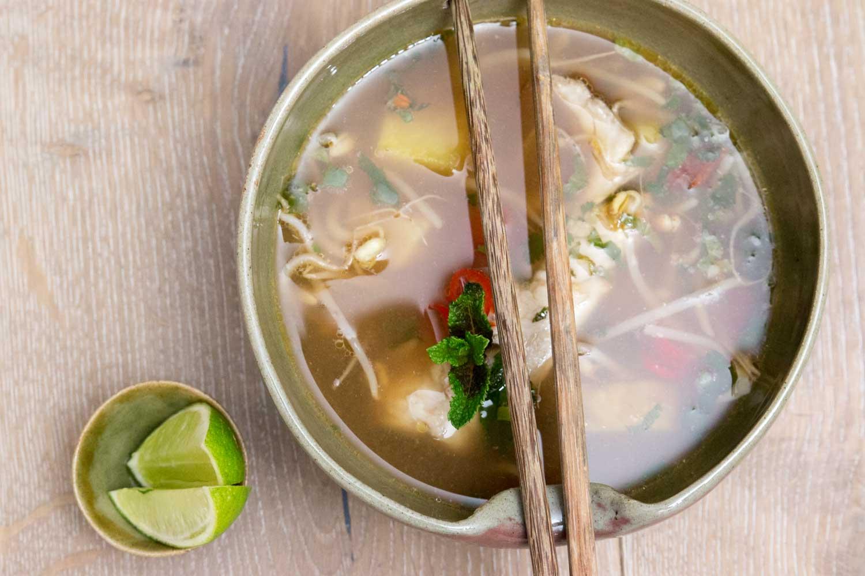 Rezepte Kambodscha Saure Fischsuppe