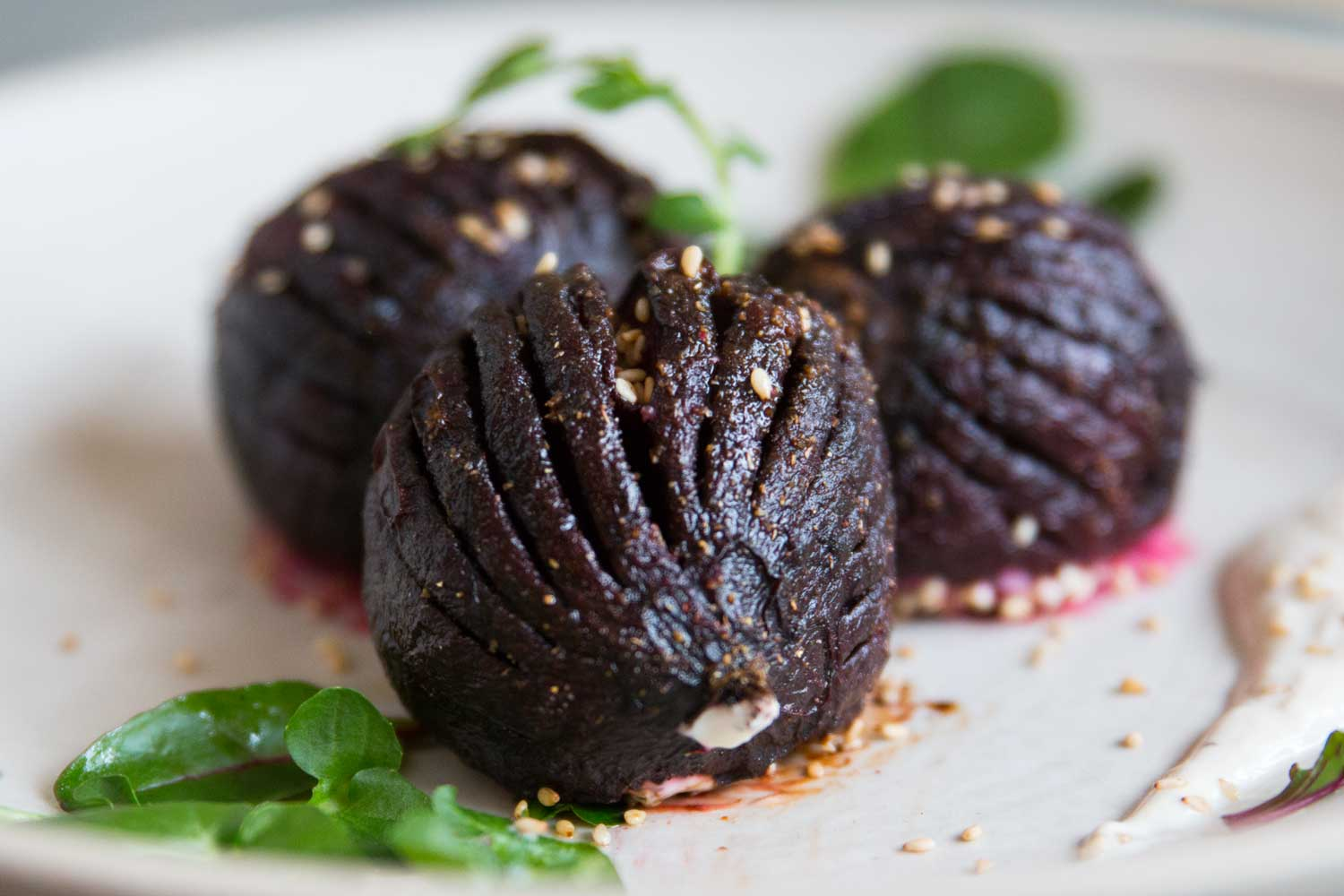 Rote Bete Hasselback
