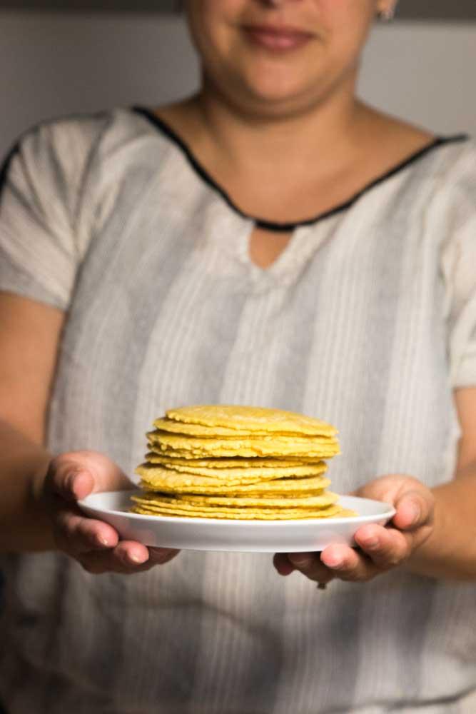 Mais Tortilla Zubereitung