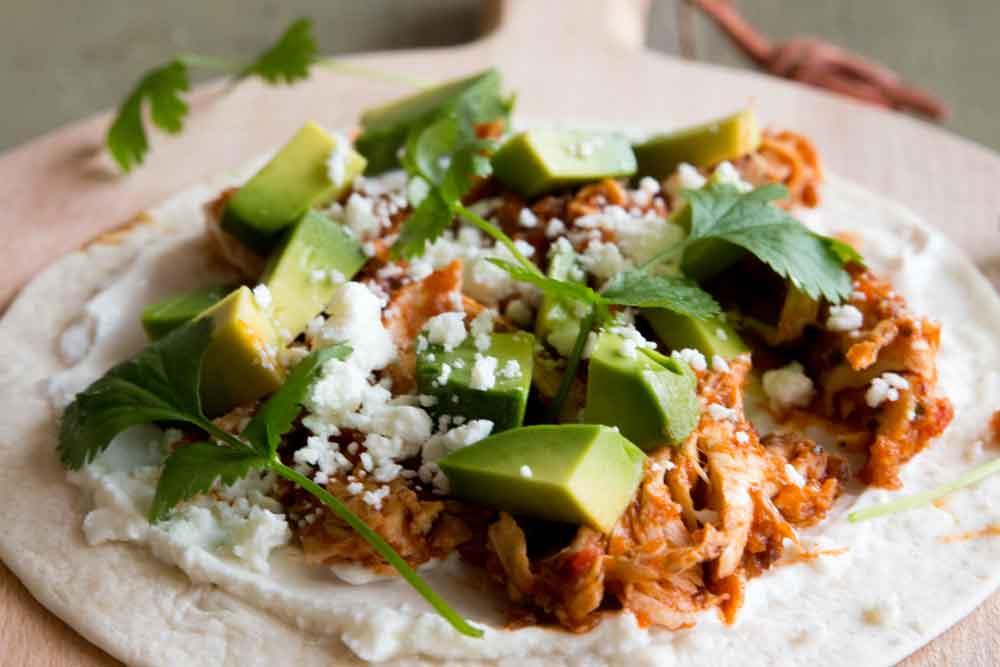 Taco Tinga de Pollo Zubereitung