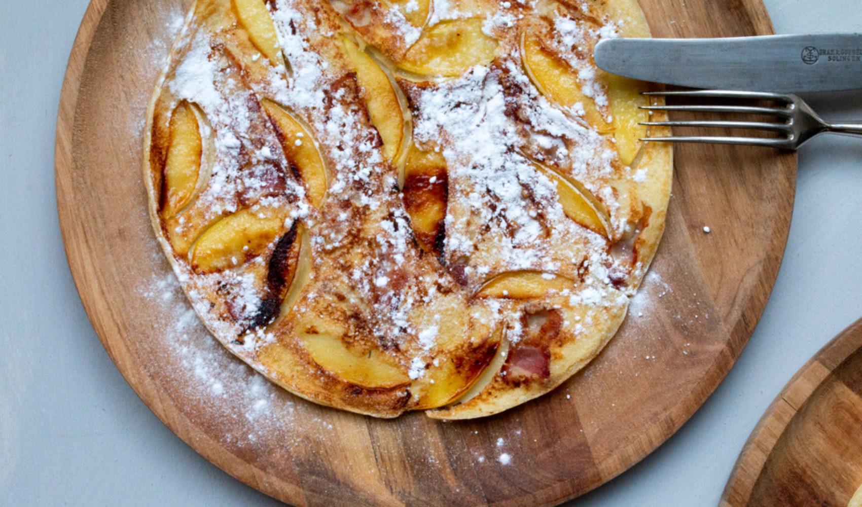 Apfel-Speck-Pfannkuchen aus Holland